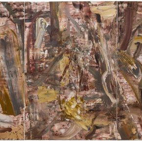 01 Liu Shangying, Populus Diversifolias and Sand No.45, oil on canvas, 240 x 480 cm, 2016