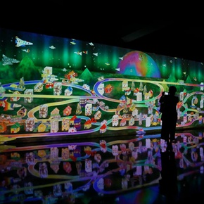 EmergingLand: An Unconventional Display by teamLab and 17 Artists