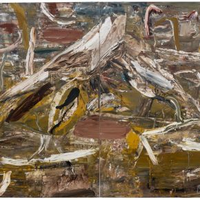02 Liu Shangying, Populus Diversifolias and Sand No.44, oil on canvas, 240 x 320 cm, 2016