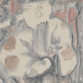 """04 Zhu Zhengeng Opera Figures 1988 Enriched colors on paper 57.7x37.6cm 290x290 - """"To Be Innovational: Zhu Zhengeng Solo Exhibition"""" is on display at Wuhan Art Museum"""