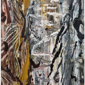 05 Liu Shangying, Populus Diversifolias and Sand No.41, oil on canvas, 240 x 160 cm, 2016