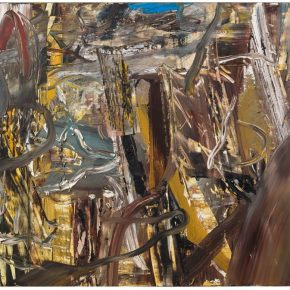 06 Liu Shangying, Populus Diversifolias and Sand No.40, oil on canvas, 160 x 240 cm, 2016