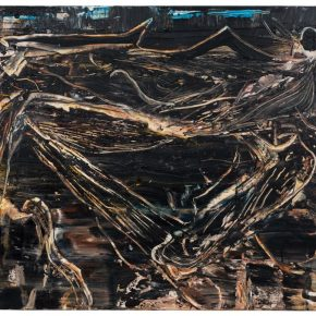 07 Liu Shangying, Populus Diversifolias and Sand No.39, oil on canvas, 160 x 240 cm, 2016