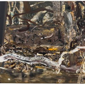 08 Liu Shangying, Populus Diversifolias and Sand No.38, oil on canvas, 160 x 240 cm, 2016