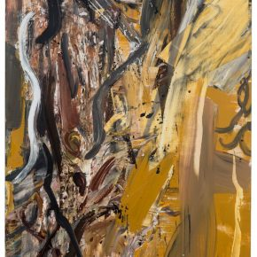 09 Liu Shangying, Populus Diversifolias and Sand No.37, oil on canvas, 240 x 160 cm, 2016