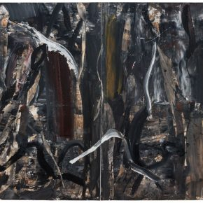 10 Liu Shangying, Populus Diversifolias and Sand No.36, oil on canvas, 240 x 320 cm, 2016