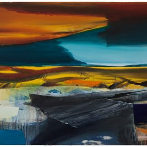 100 Liu Shangying, Lake Manasarovar 25, oil on canvas, 240 x 480 cm, 2014