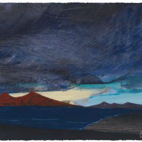 113 Liu Shangying, Scenery of Ali 5, acrylic on paper, 56 x 75 cm, 2012
