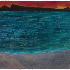 114 Liu Shangying, Scenery of Ali 7, acrylic on paper, 56 x 75 cm, 2012