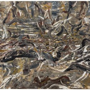 12 Liu Shangying, Populus Diversifolias and Sand No.34, oil on canvas, 160 x 240 cm, 2016