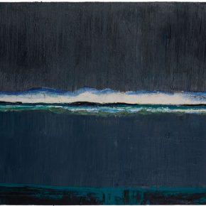 122 Liu Shangying, The Lake in Rain, oil on canvas, 100 x 160 cm, 2014