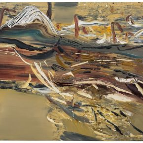 13 Liu Shangying, Populus Diversifolias and Sand No.33, oil on canvas, 160 x 240 cm, 2016