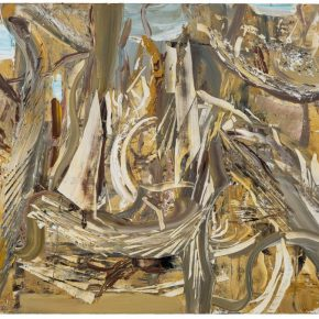 16 Liu Shangying, Populus Diversifolias and Sand No.30, oil on canvas, 160 x 240 cm, 2016