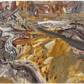 22 Liu Shangying, Populus Diversifolias and Sand No.17, oil on canvas, 160 x 240 cm, 2015