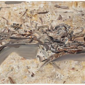 23 Liu Shangying, Populus Diversifolias and Sand No.16, oil on canvas, 160 x 240 cm, 2015