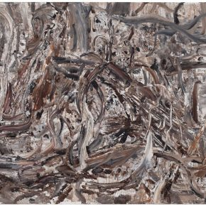 26 Liu Shangying, Populus Diversifolias and Sand No.13, oil on canvas, 160 x 240 cm, 2015