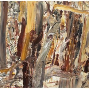 27 Liu Shangying, Populus Diversifolias and Sand No.12, oil on canvas, 160 x 240 cm, 2015