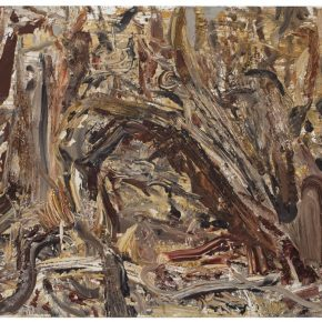 28 Liu Shangying, Populus Diversifolias and Sand No.11, oil on canvas, 160 x 240 cm, 2015