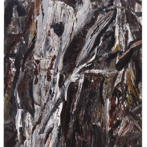 29 Liu Shangying, Populus Diversifolias and Sand No.10, oil on canvas, 240 x 160 cm, 2015