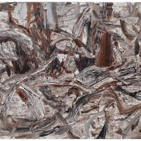30 Liu Shangying, Populus Diversifolias and Sand No.9, oil on canvas, 160 x 240 cm, 2015