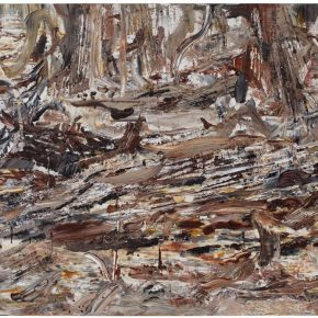 31 Liu Shangying, Populus Diversifolias and Sand No.8, oil on canvas, 160 x 240 cm, 2015