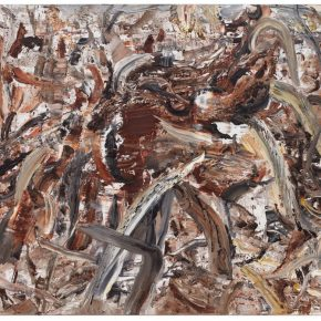 32 Liu Shangying, Populus Diversifolias and Sand No.7, oil on canvas, 160 x 240 cm, 2015