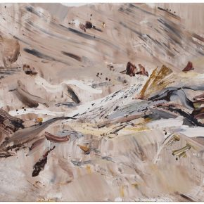 33 Liu Shangying, Populus Diversifolias and Sand No.6, oil on canvas, 160 x 240 cm, 2015