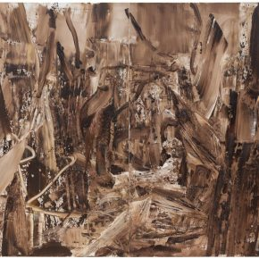 35 Liu Shangying, Populus Diversifolias and Sand No.4, oil on canvas, 240 x 320 cm, 2015