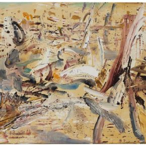 36 Liu Shangying, Populus Diversifolias and Sand No.3, oil on canvas, 160 x 240 cm, 2015
