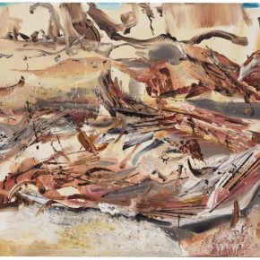 37 Liu Shangying, Populus Diversifolias and Sand No.2, oil on canvas, 160 x 240 cm, 2015