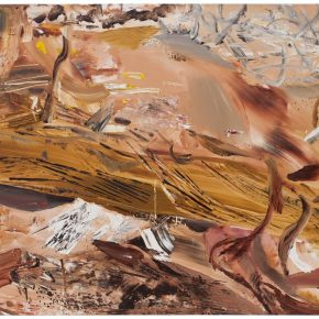 38 Liu Shangying, Populus Diversifolias and Sand No.1, oil on canvas, 160 x 240 cm, 2015