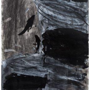 45 Liu Shangying, Changshu 55, charcoal, acrylic and oil on paper, 54 x 39 cm, 2016