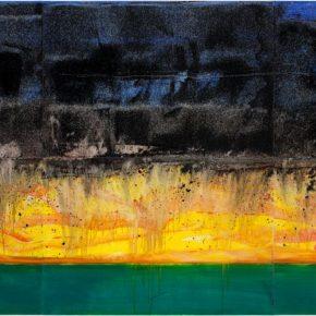 81 Liu Shangying, Lake Manasarovar 5, oil on canvas, 270 x 600 cm, 2013