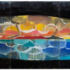 82 Liu Shangying, Lake Manasarovar 6, oil on canvas, 270 x 600 cm, 2013