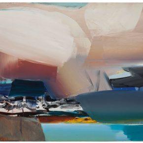 98 Liu Shangying, Lake Manasarovar 23, oil on canvas, 160 x 240 cm, 2014