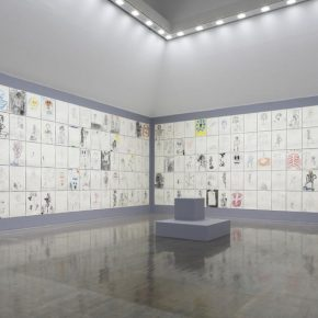 The Spectre,2014 ongoing,Wooden plinth mixed media on paper,Dimensions variableInstallation view at Contemporary Art Gallery Art Tower Mito 2017 290x290 - David Shrigley: Lose Your Mind will be presented at power station of DESIGN