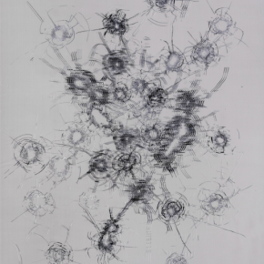"""Zhao Zhao Constellations 2018 Embroidery on silk 200x160cm 290x290 - Tang Contemporary Art announces Zhao Zhao's """"One Second • One Year"""" opening on August 8"""