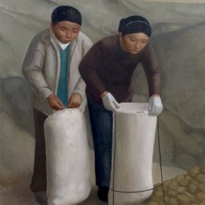 01 Duan Jianwei, Sacking Potatoes, oil on canvas, 160 × 130 cm, 2016