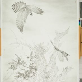 04 Chen Xiangfeng Painting of Eagle and Magpie 2015 Ink and wash on paper 205x150cm 290x290 - The Exhibition of Postgraduate and Doctoral Supervisors from CAFA will be unveiled on September 5