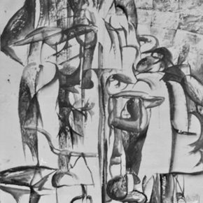 12 Cai Guangbin, Construction – Street, Chinese ink and rice paper, 180 × 200 cm, 1985