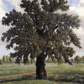 13 Stephen McKenna An English Oak Tree oil paint on canvas 2000 x 1500 mm 1981 Tate Purchased 1982 290x290 - Three Hundred Years of British Landscape Painting: Masterpieces from Tate Britain are on show at the National Art Museum of China