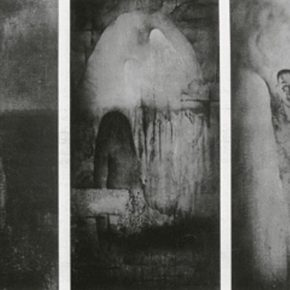 17 Cai Guangbin, Melting, Chinese ink, 70 x 140 cm x 3, 1993