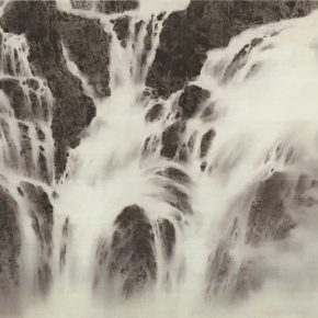 20 Zhuo Min Lofty Mountains and Flowing Water hemp paper 97 × 188 cm 2015 290x290 - Zhuo Min: What Are the Different Results Brought by Ink and Wash from an Overseas Perspective?