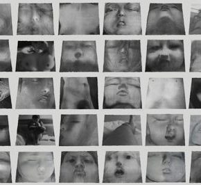 21 Cai Guangbin, Snapshots of The Others – They Are Old · 60A, Chinese ink, rice paper, canvas, 112 × 130 cm × 60, 2010-2013