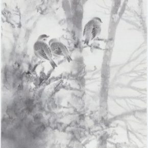 21 Zhuo Min Snow Trees and Silver Flowers – Morning 2 hemp paper 89 × 48 cm 2013 290x290 - Zhuo Min: What Are the Different Results Brought by Ink and Wash from an Overseas Perspective?