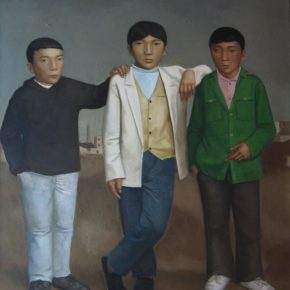 23 Duan Jianwei, Three Teenagers, 160 x 130 cm, 2011