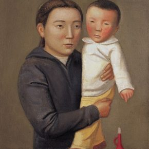 24 Duan Jianwei, Mother and Son, oil on canvas, 73 x 60 cm, 2011