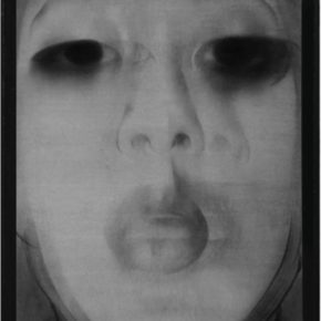 36 Cai Guangbin, Selfie – iPhone·NO, A26, Chinese ink and rice paper, 240 x 105 cm, 2015