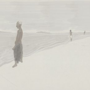 "Du Xiaotong Shore No. 3 2018 Ink and wash on paper104x138cm 290x290 - NAMOC announces ""Silence—Ink and Wash Art from the Du Xiaotong"" opening on September 20"