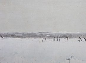 "Du Xiaotong Windy 2018 Ink and wash on paper 553x114cm 290x211 - NAMOC announces ""Silence—Ink and Wash Art from the Du Xiaotong"" opening on September 20"